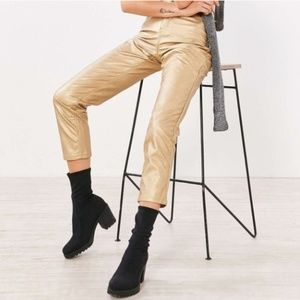 Urban Outfitters BDG Girlfriend Vegan Pants Gold